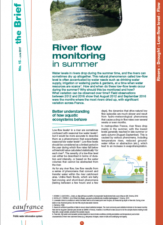 River flow monitoring in summer